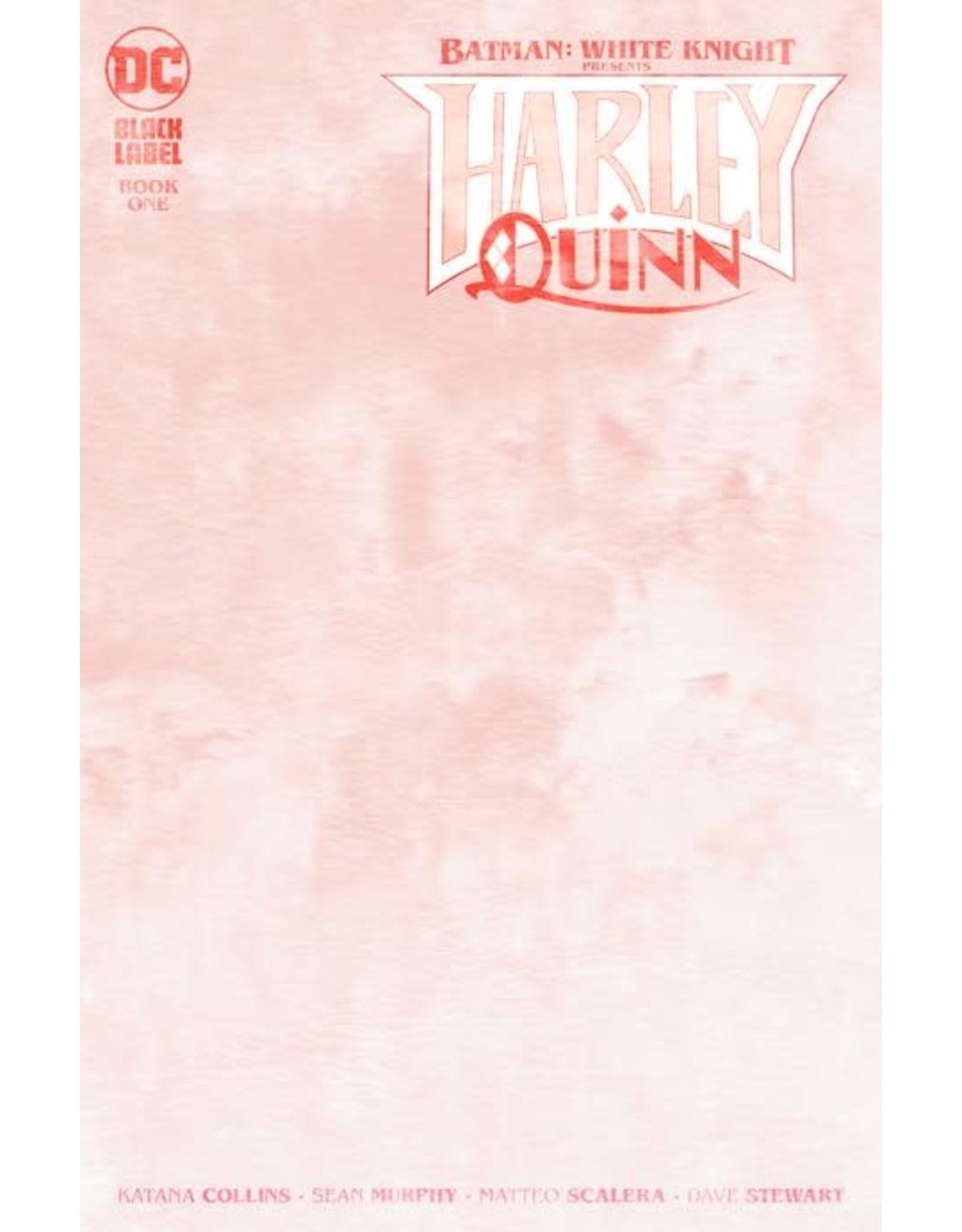 DC BATMAN WHITE KNIGHT PRESENTS HARLEY QUINN #1 (OF 6) CVR C BLANK VAR