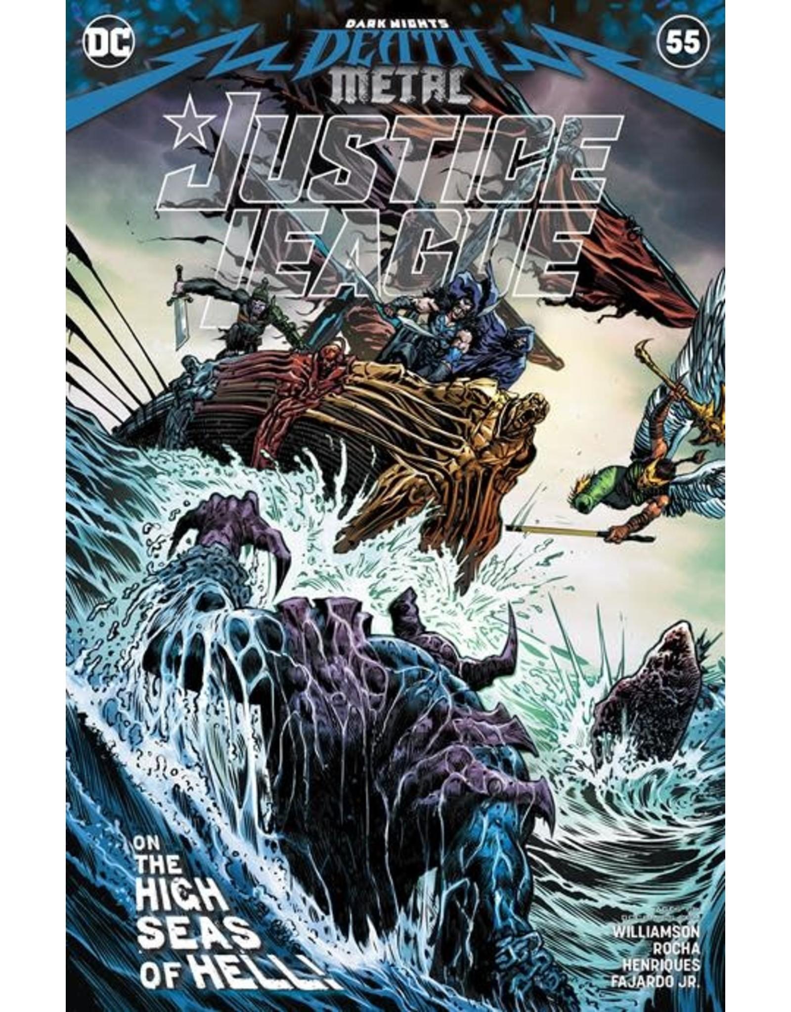DC Comics JUSTICE LEAGUE #55 CVR A LIAM SHARP (DARK NIGHTS DEATH METAL)