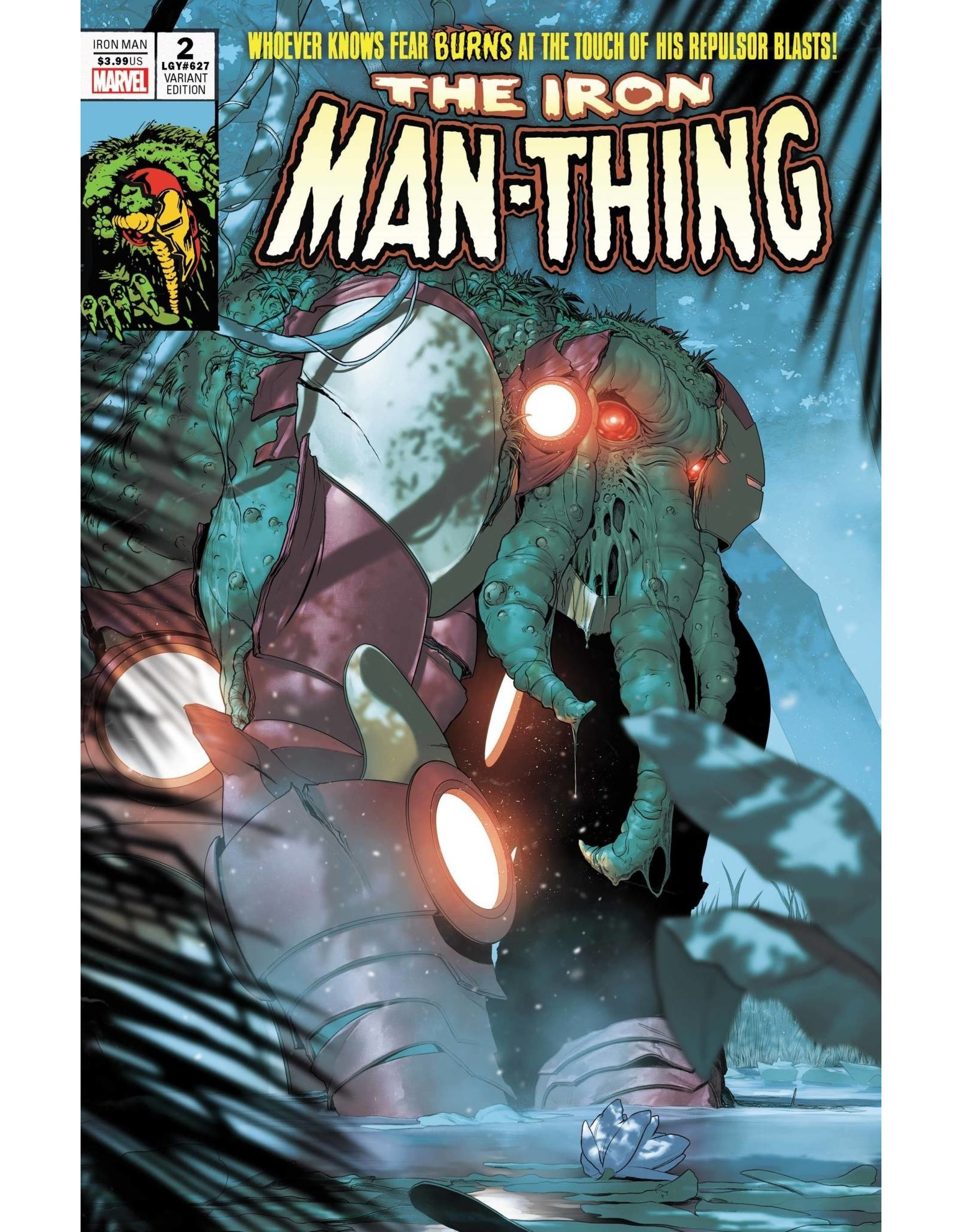 Marvel Comics IRON MAN #2 DE IULUS IRON MAN THING HORROR VAR