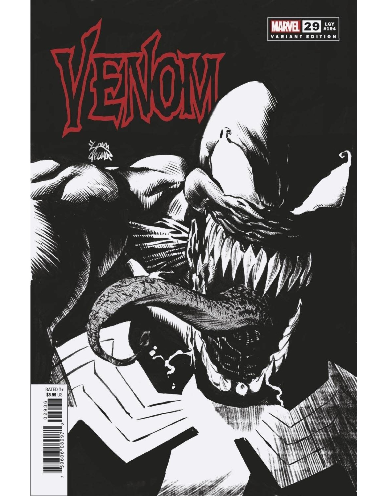 Marvel Comics VENOM #29 STEGMAN SKETCH VAR 1:25