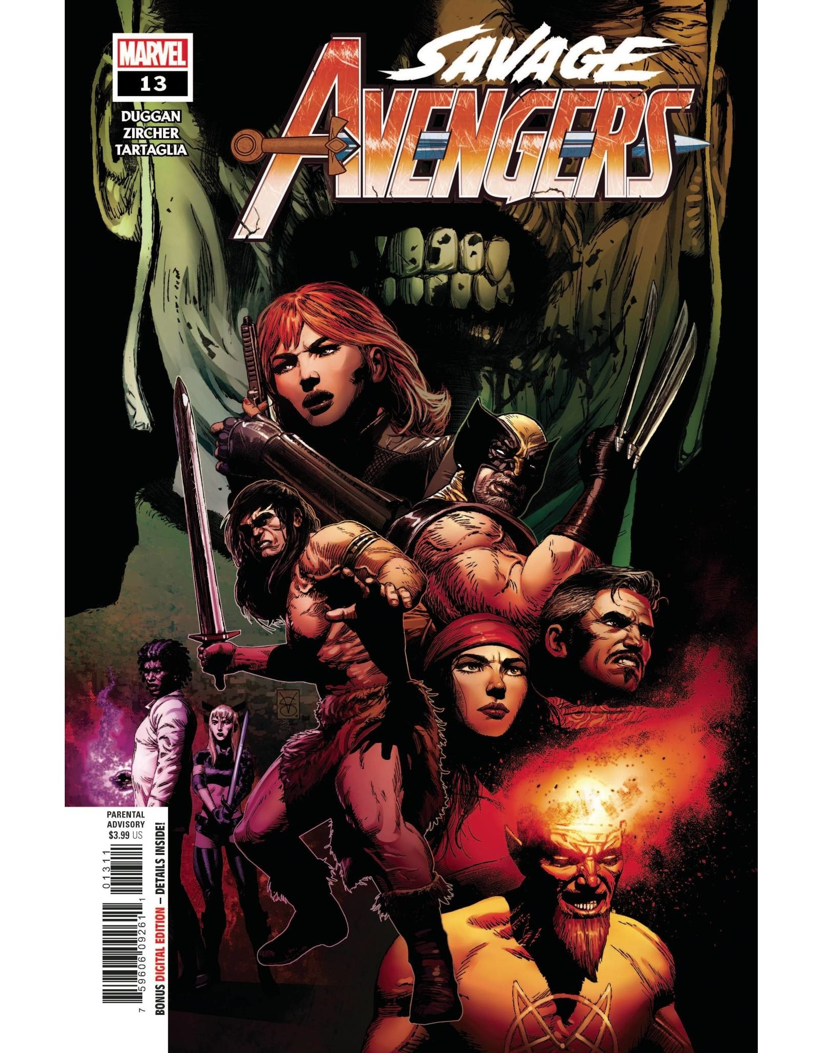 Marvel Comics SAVAGE AVENGERS #13