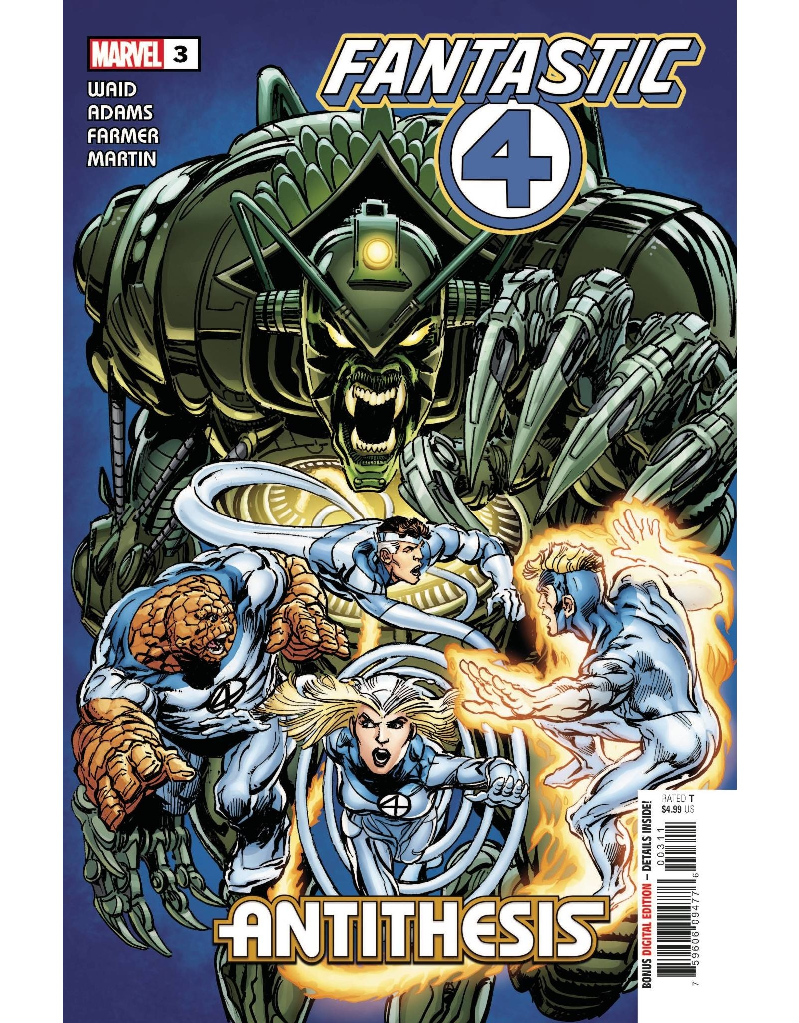 Marvel Comics FANTASTIC FOUR ANTITHESIS #3 (OF 4)