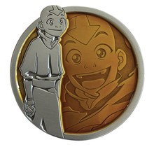 "AVATAR THE LAST AIRBENDER AANG PORTRAIT SERIES PIN 2"" diameter"