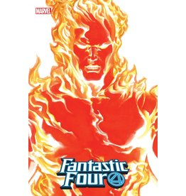 Marvel FANTASTIC FOUR #24 ALEX ROSS HUMAN TORCH TIMELESS VAR EMP