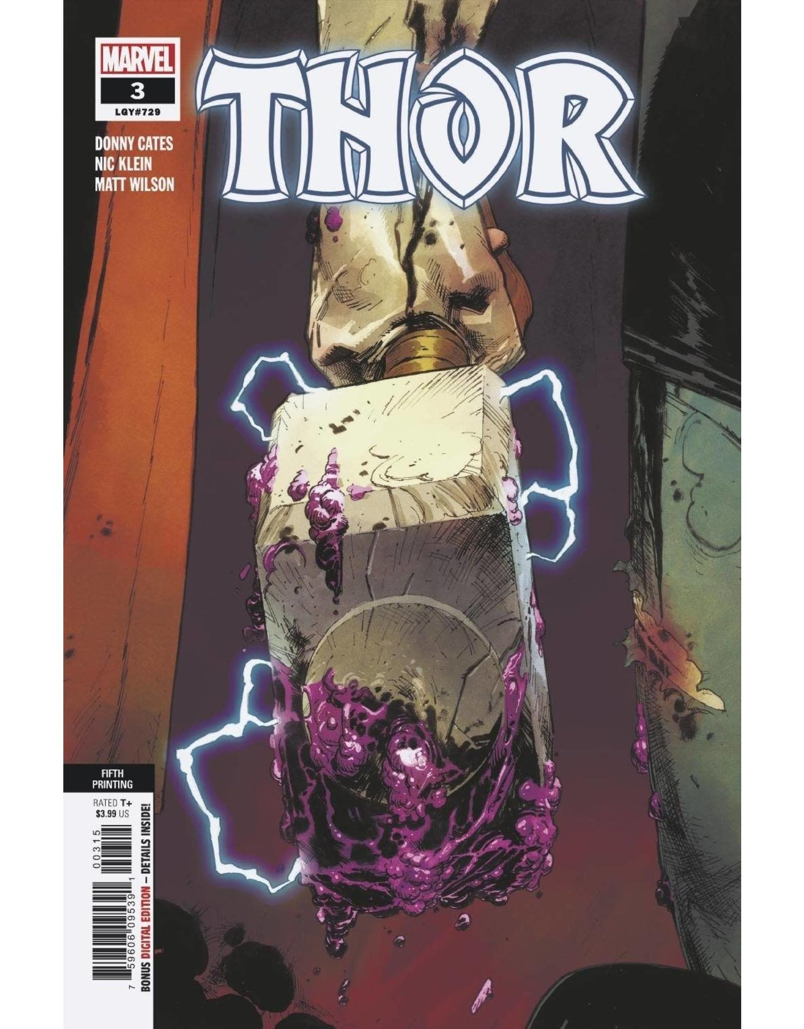 Marvel Comics THOR #3 5TH PTG VAR
