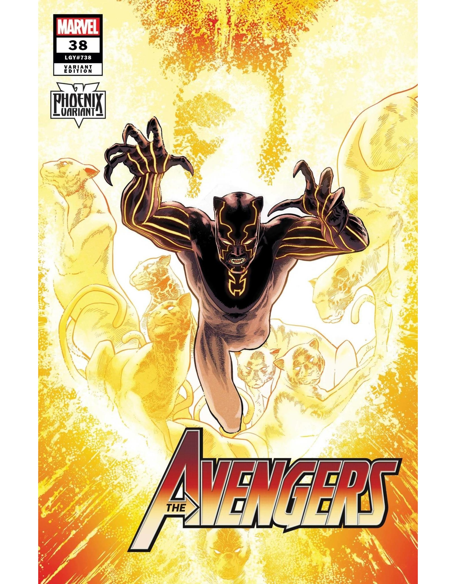 Marvel Comics AVENGERS #38 KUDER BLACK PANTHER PHOENIX VAR