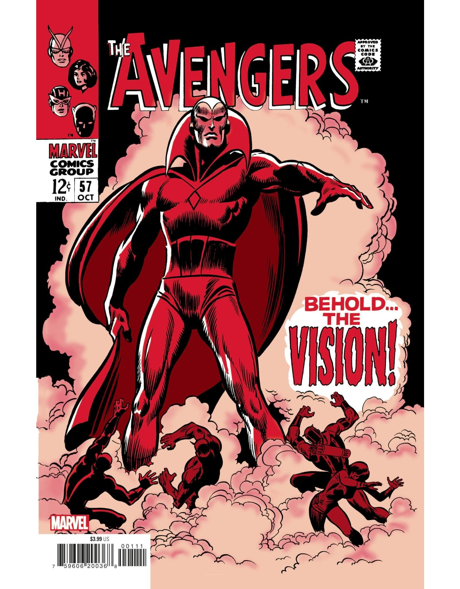 Marvel Comics AVENGERS #57 FACSIMILE EDITION