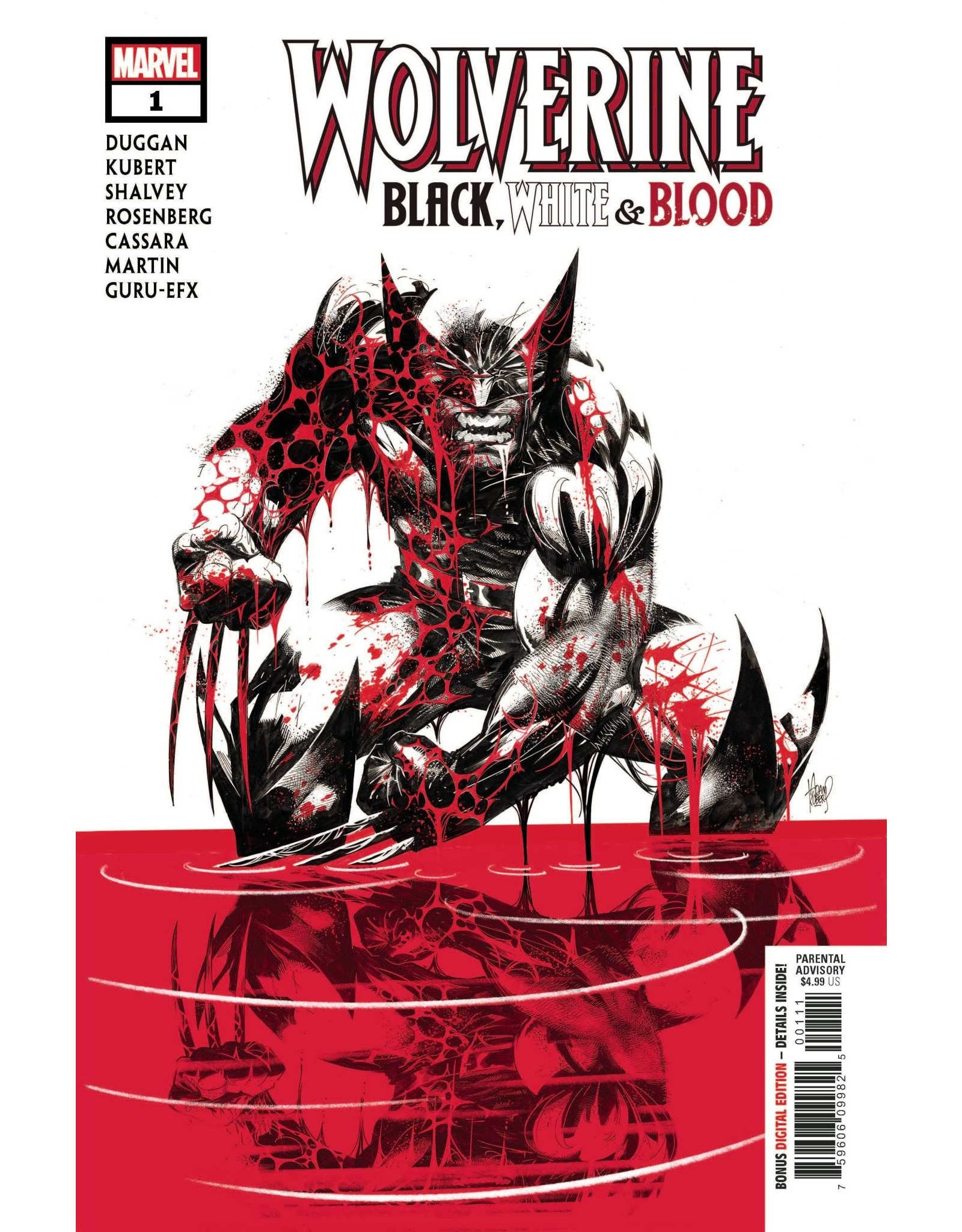 Marvel Comics WOLVERINE BLACK WHITE BLOOD #1 (OF 4)