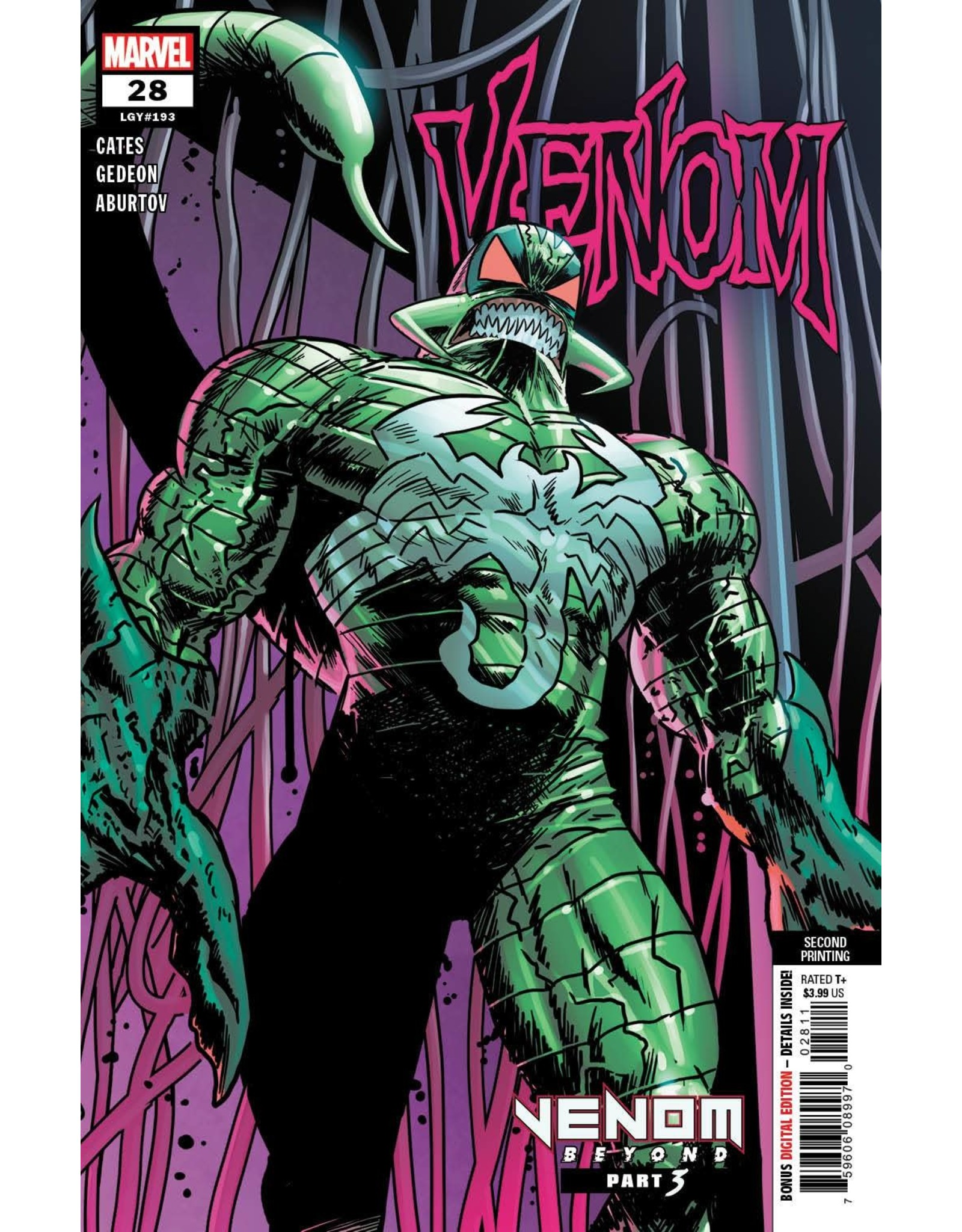 Marvel Comics VENOM #28 2ND PTG GEDEON VAR