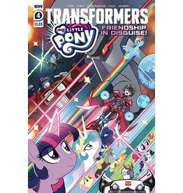IDW PUBLISHING MY LITTLE PONY TRANSFORMERS #4 (OF 4) CVR A FLEECS