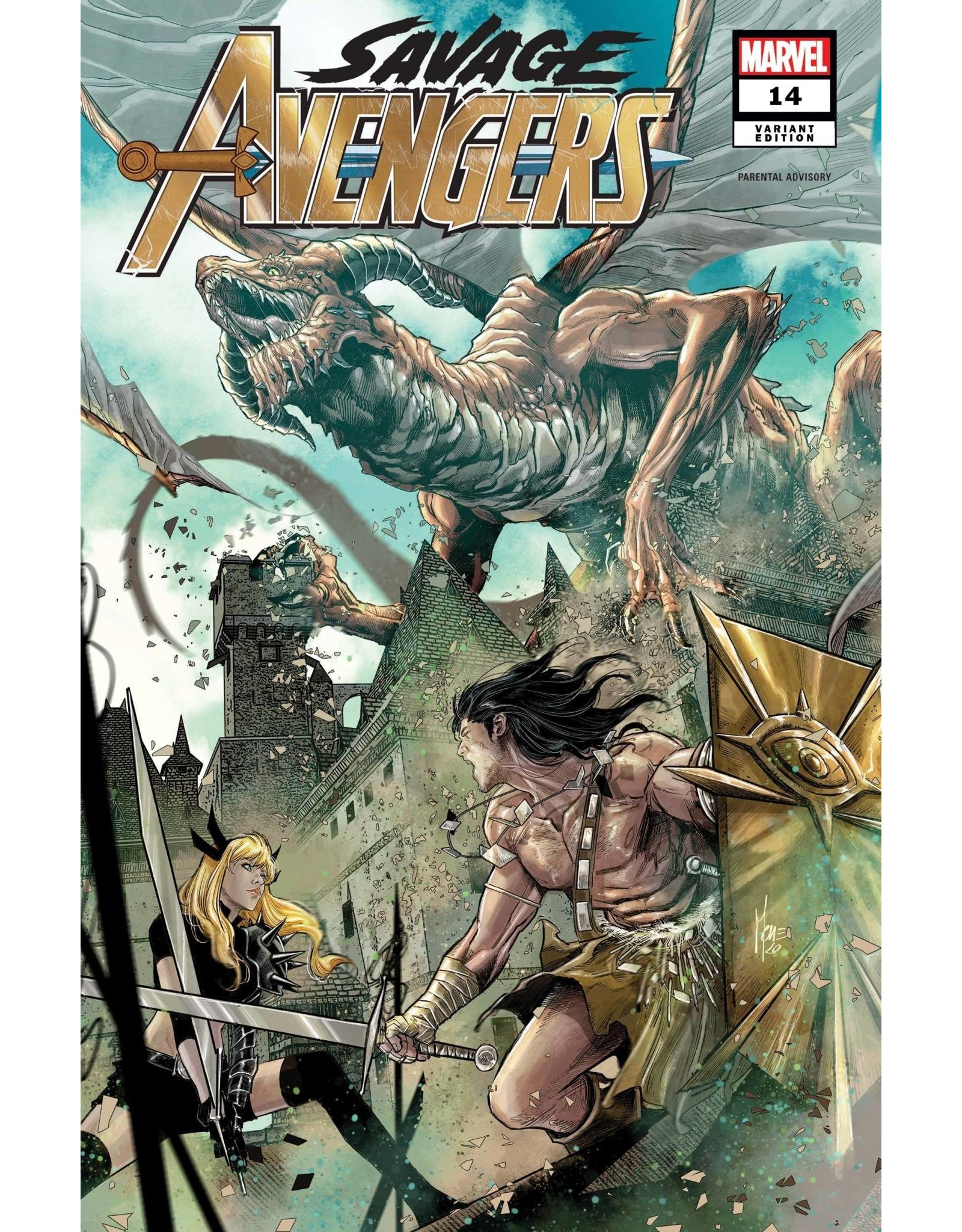 Marvel Comics SAVAGE AVENGERS #14 CHECCHETTO VAR