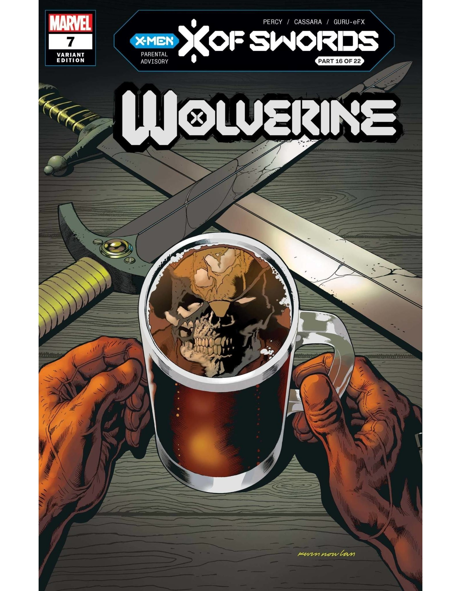 Marvel Comics WOLVERINE #7 NOWLAN VAR XOS