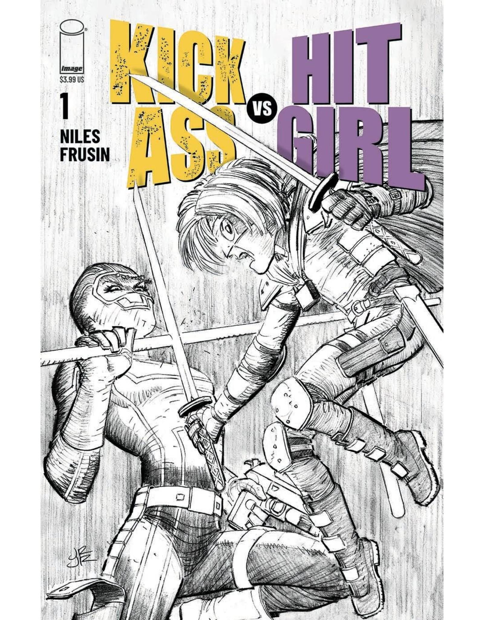 Image Comics KICK-ASS VS HIT-GIRL #1 (OF 5) CVR B ROMITA JR (RES) (MR)