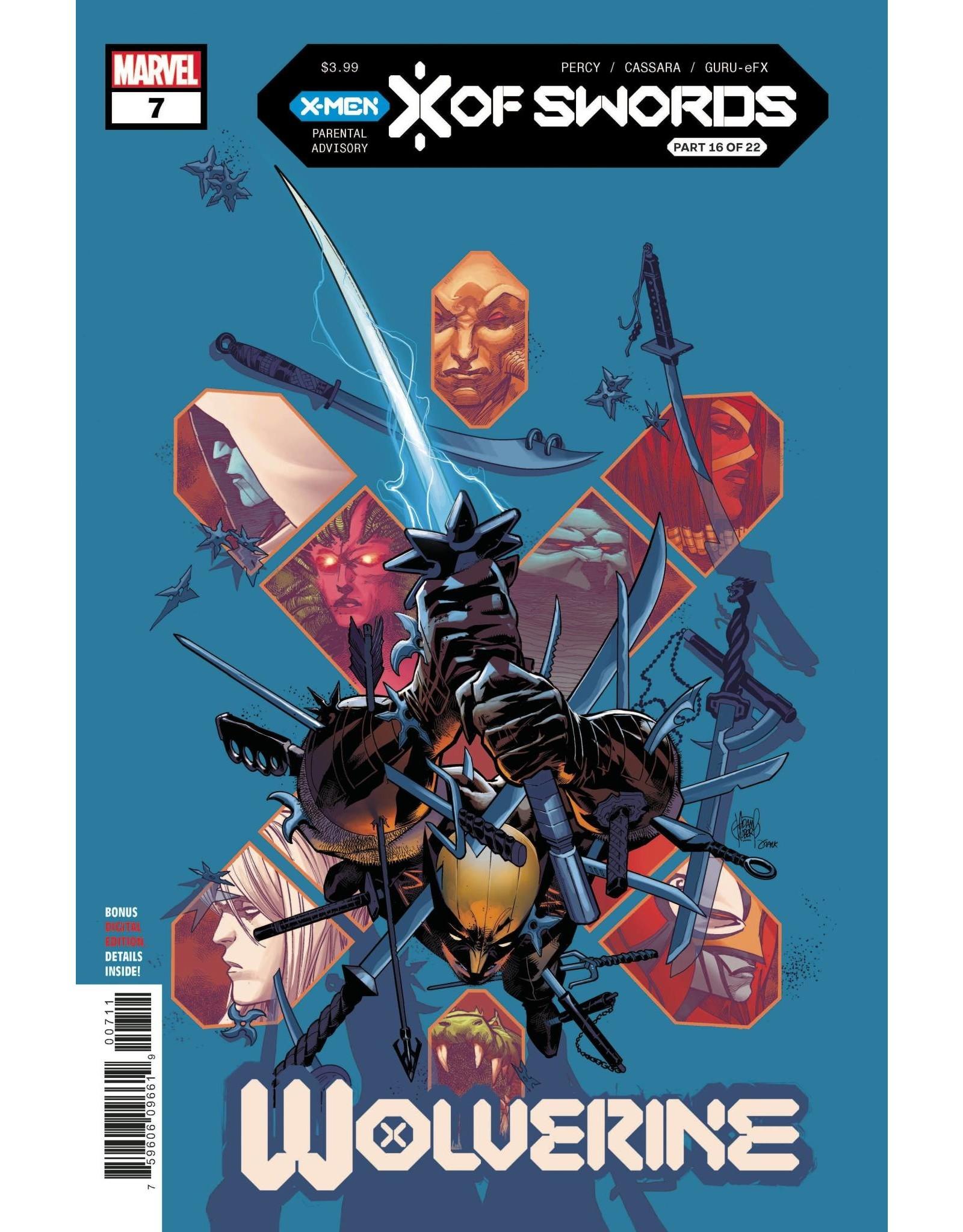 Marvel Comics WOLVERINE #7 XOS