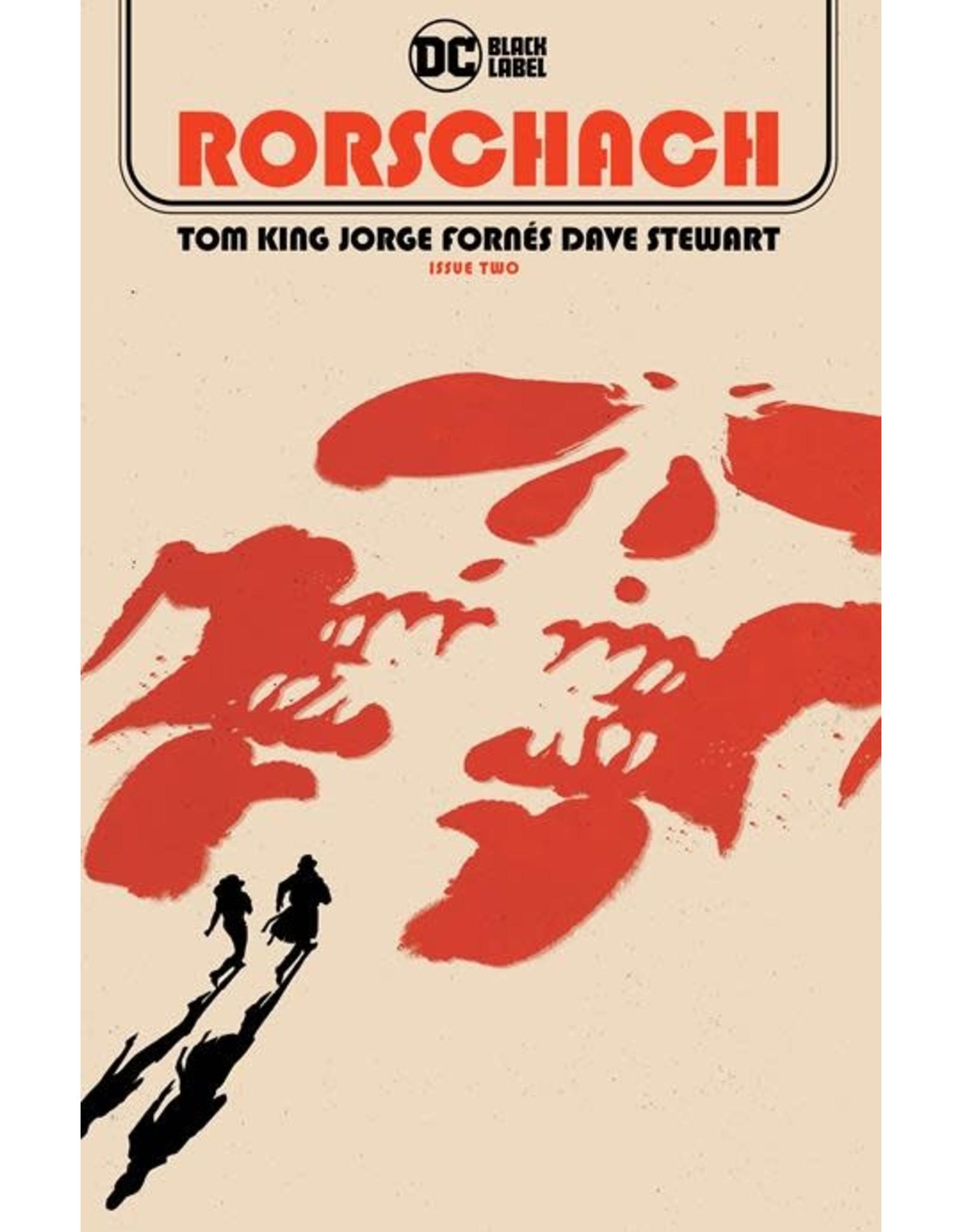 DC Comics RORSCHACH #2 (OF 12) CVR A JORGE FORNES
