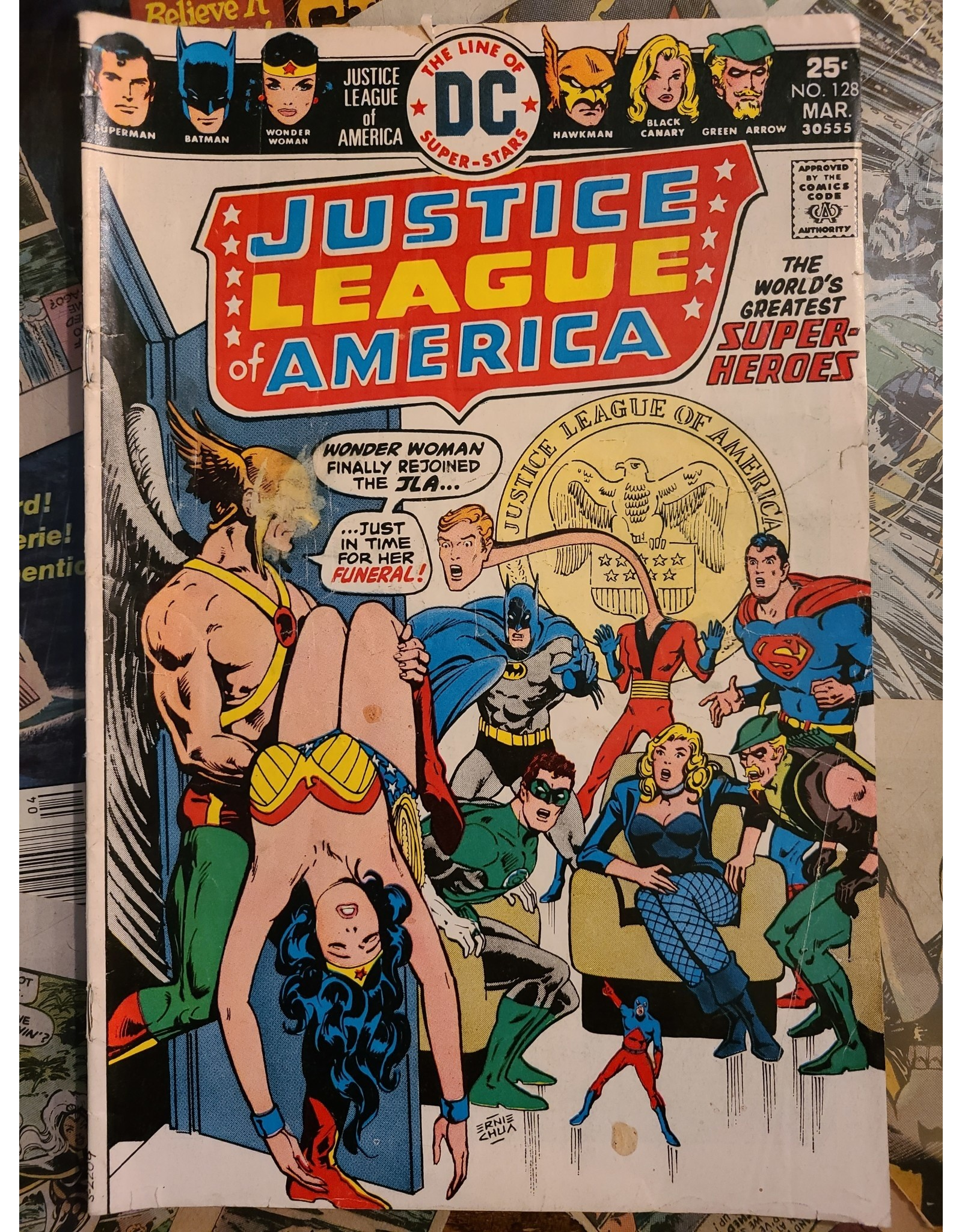 DC Comics JUSTICE LEAGUE OF AMERICA #128 GD+