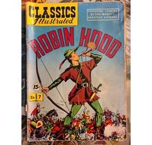 CLASSICS ILLUSTRATED #7 ROBIN HOOD GD-
