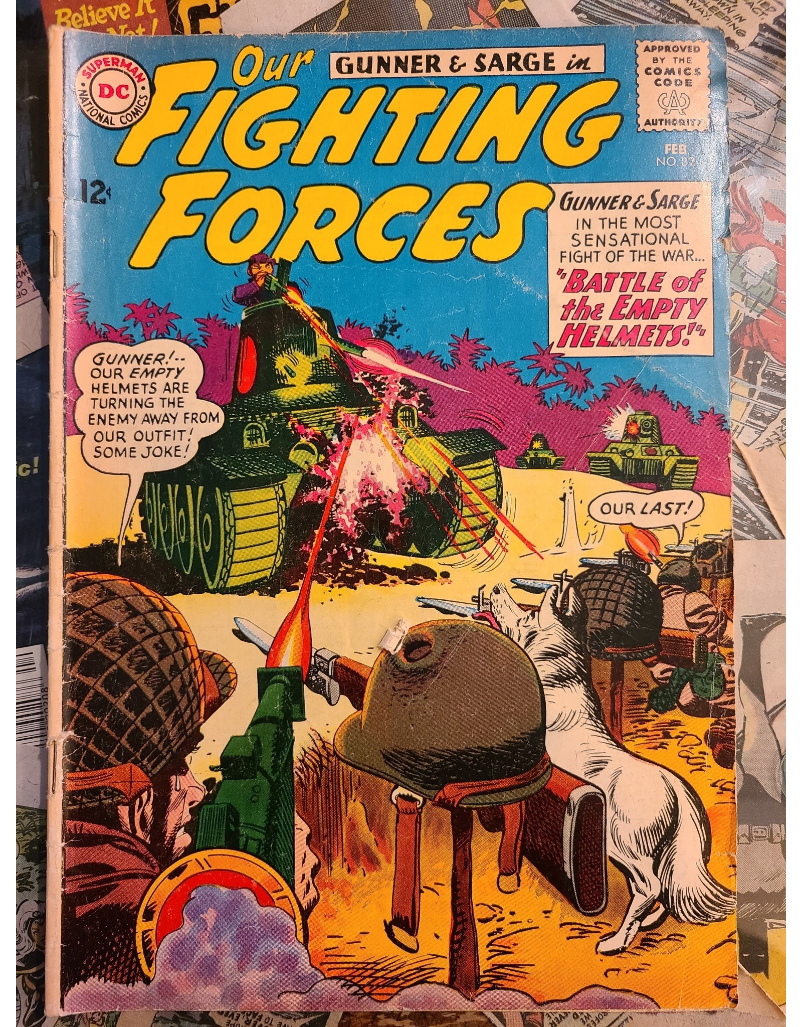 DC Comics OUR FIGHTING FORCES #82 VG-