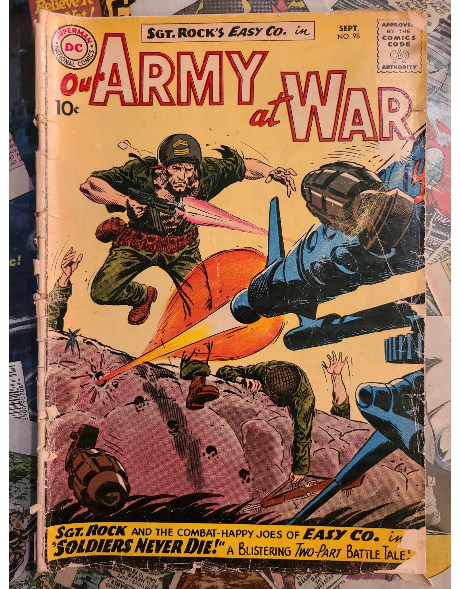DC Comics OUR ARMY AT WAR #98 GD-