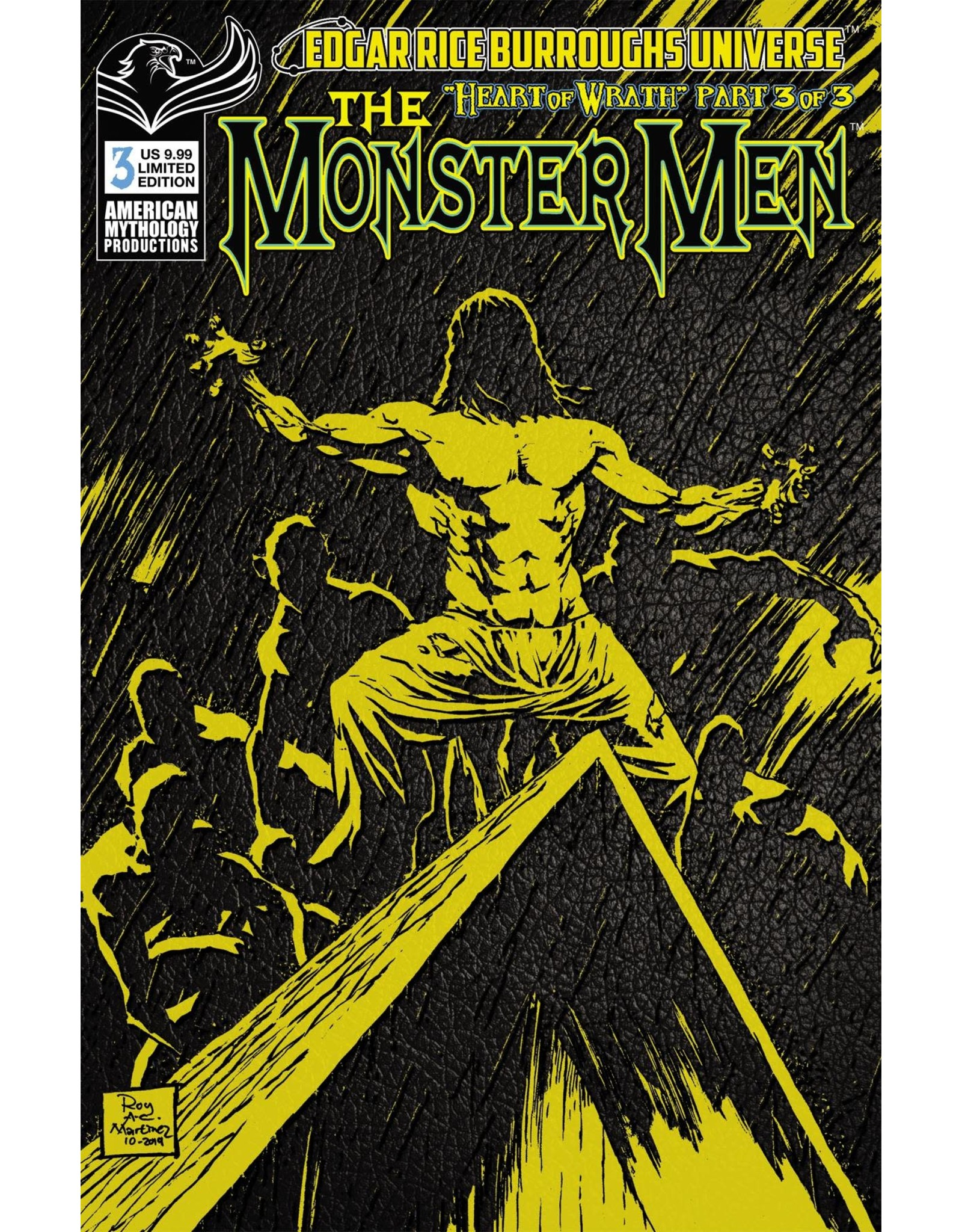 AMERICAN MYTHOLOGY PRODUCTIONS MONSTER MEN HEART OF WRATH #3 CVR B PULP LTD ED