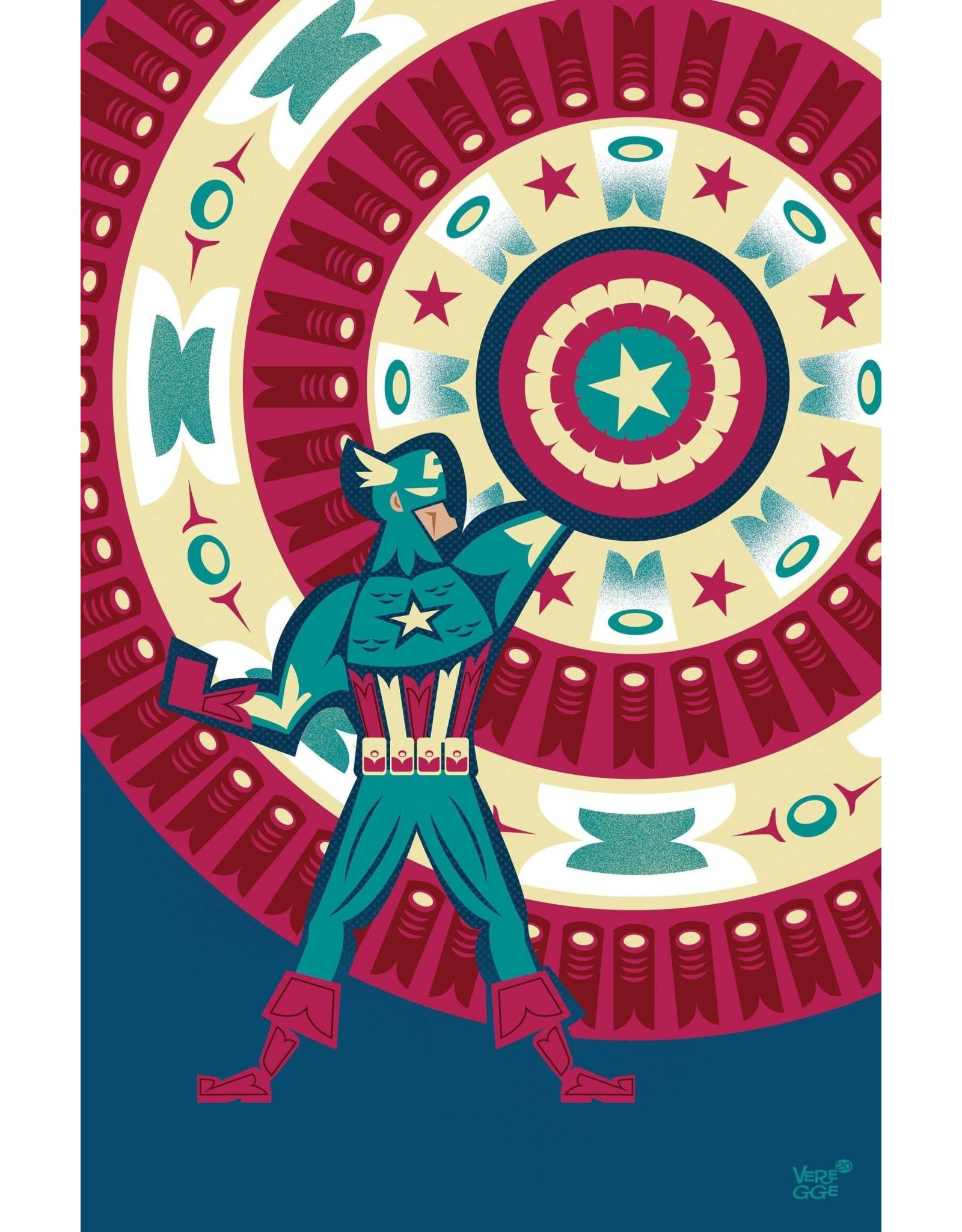 Marvel Comics CAPTAIN AMERICA #25 VEREGGE CAPTAIN AMERICA VAR