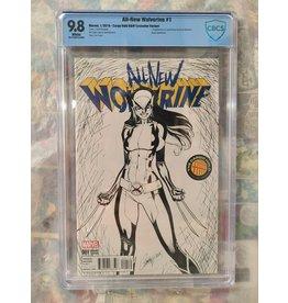 Marvel All New Wolverine #1 Cargo Hold B&W Variant Marvel 2016 CBCS 9.8