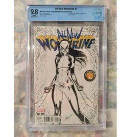Marvel Comics All New Wolverine #1 Cargo Hold B&W Variant Marvel 2016 CBCS 9.8