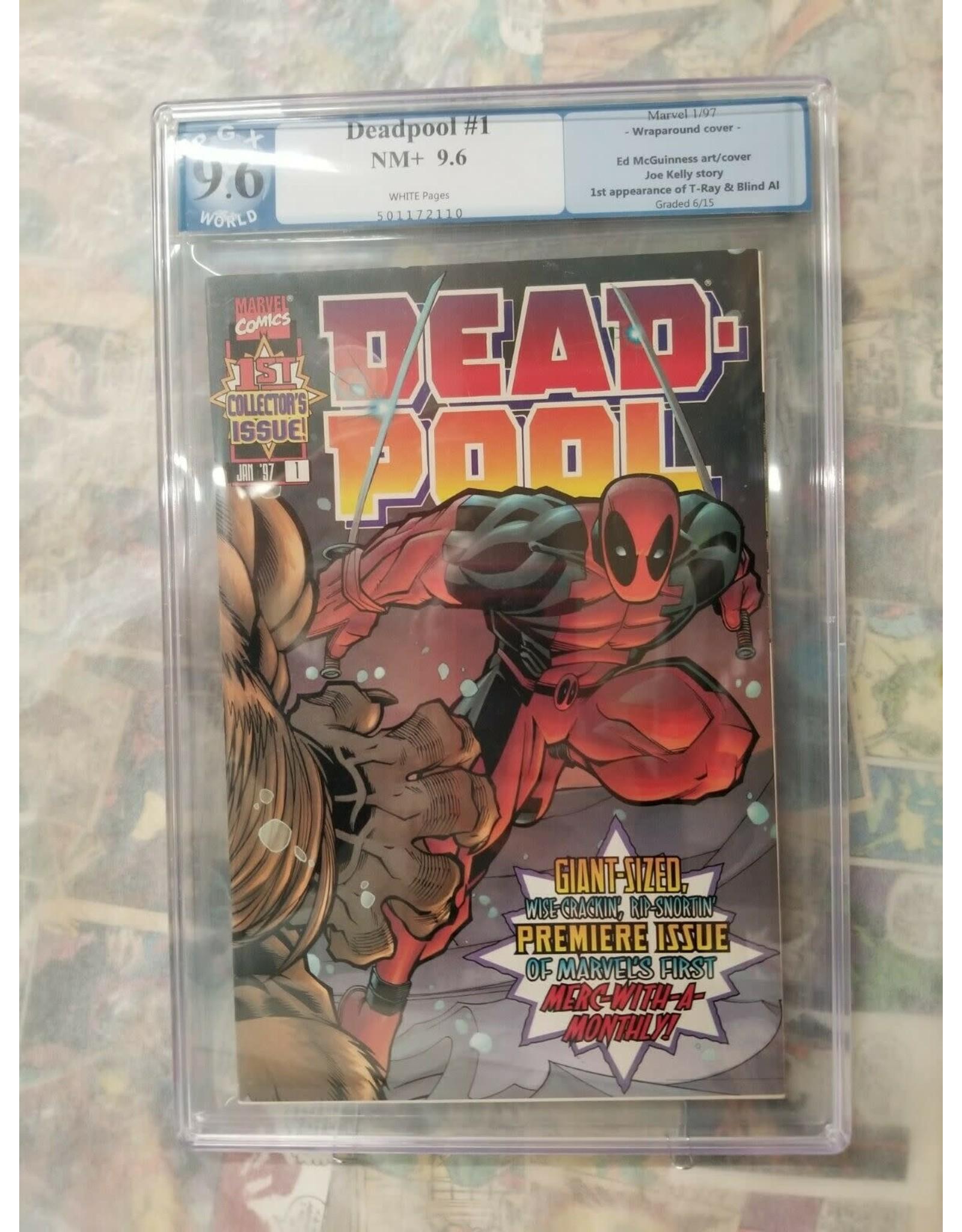 Marvel Comics Deadpool #1 1997 PGX 9.6 1st Solo series, 1st T-Ray and Blind Al