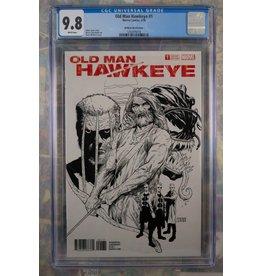 Marvel Comics Old Man Hawkeye #1 Steve McNiven Sketch Variant Cover CGC 9.8
