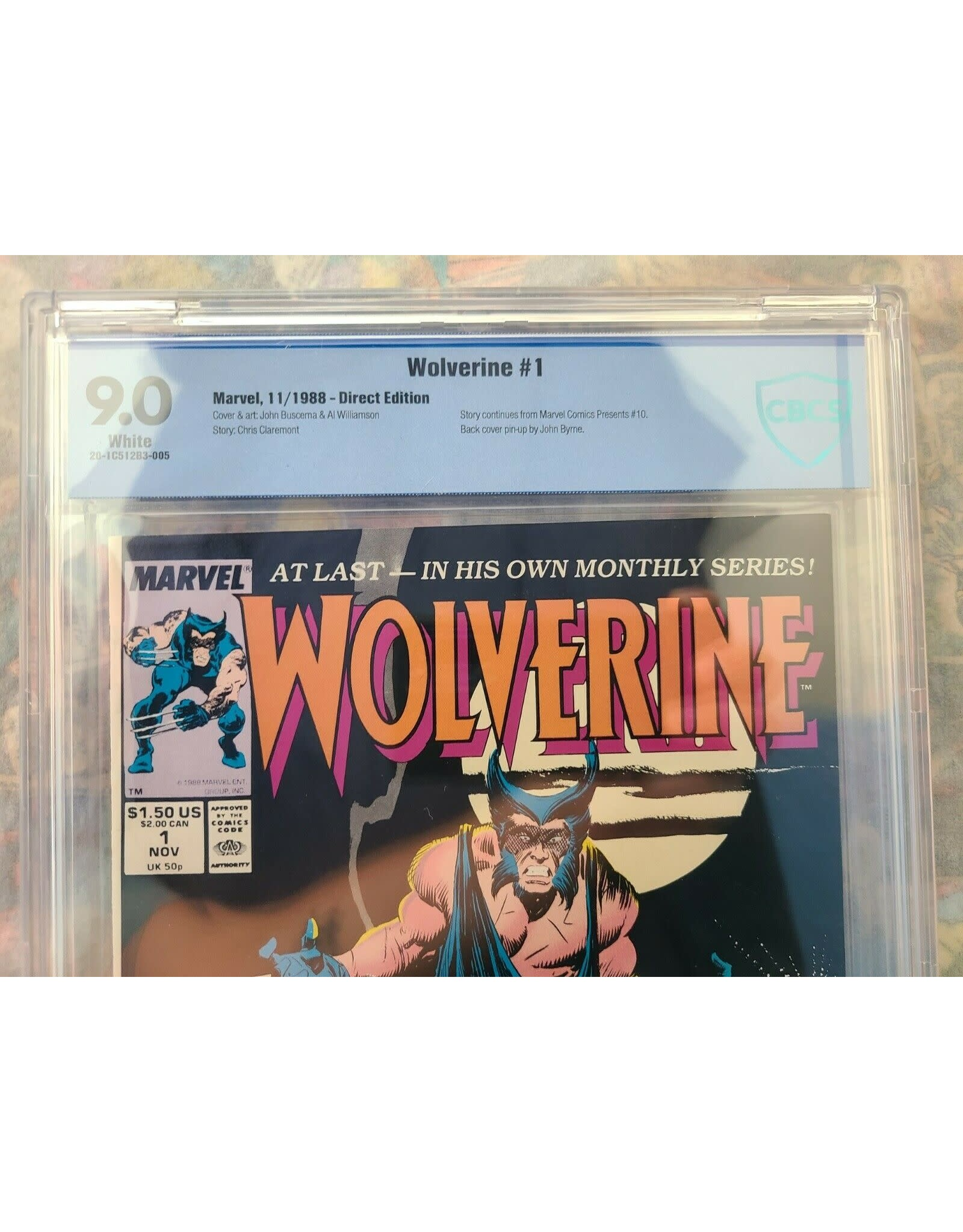 Marvel Comics Wolverine #1 1988 CBCS 9.0 Marvel Comics