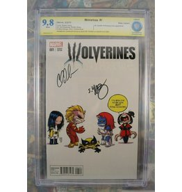 Marvel Comics Wolverines #1 Skottie Young Var signed by Skottie Young & Charles Soule CBCS 9.8