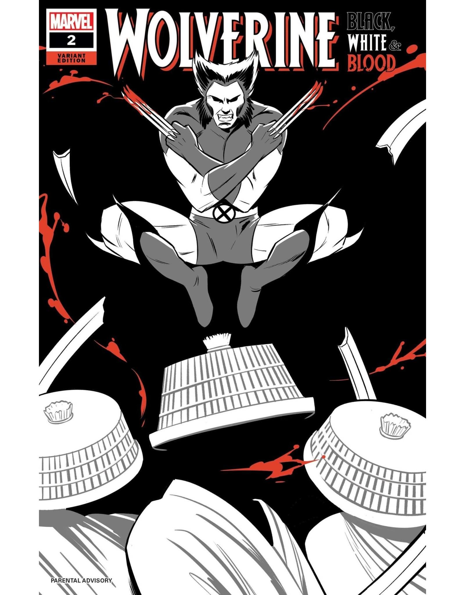 Marvel Comics WOLVERINE BLACK WHITE BLOOD #2 (OF 4) BUSTOS VAR 1:25