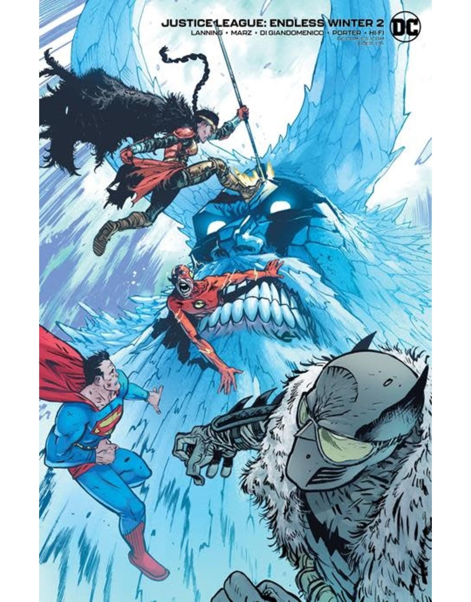 DC Comics JUSTICE LEAGUE ENDLESS WINTER #2 (OF 2) CVR B DANIEL WARREN JOHNSON CARD STOCK VAR (ENDLESS WINTER)
