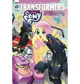 IDW PUBLISHING MY LITTLE PONY TRANSFORMERS #3 (OF 4) CVR A FLEECS