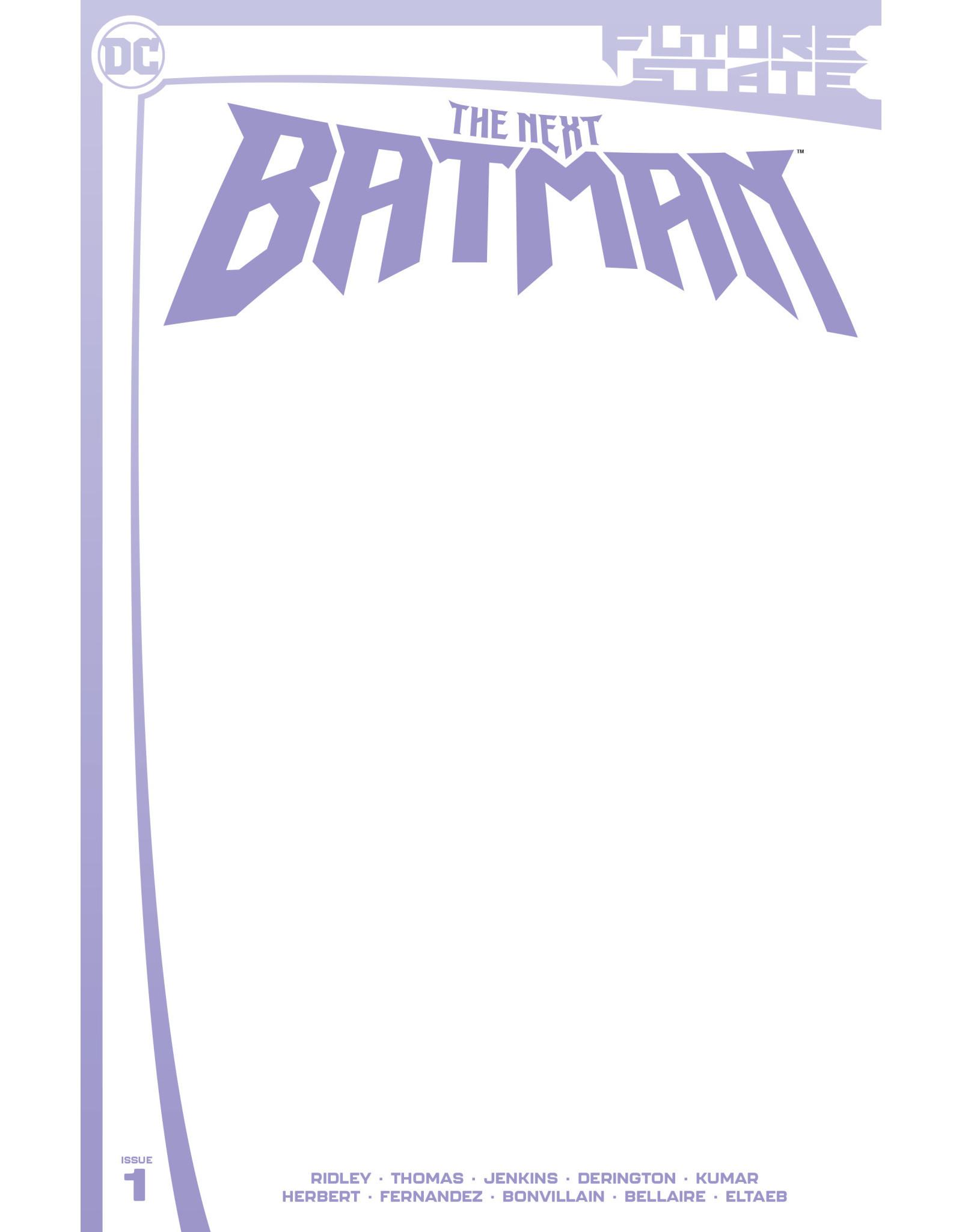 DC Comics FUTURE STATE THE NEXT BATMAN #1 (OF 4) CVR C BLANK CARD STOCK VAR