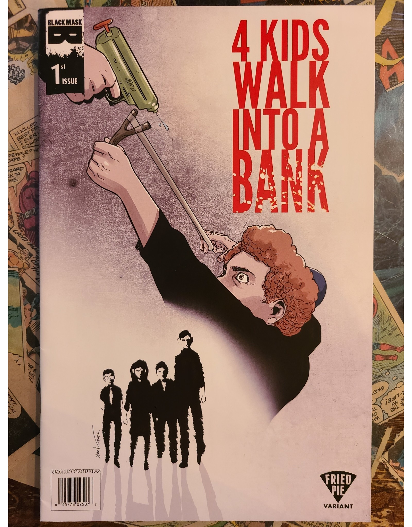 Black Mask 4 KIDS WALK INTO A BANK #1 FRIED PIE EXC