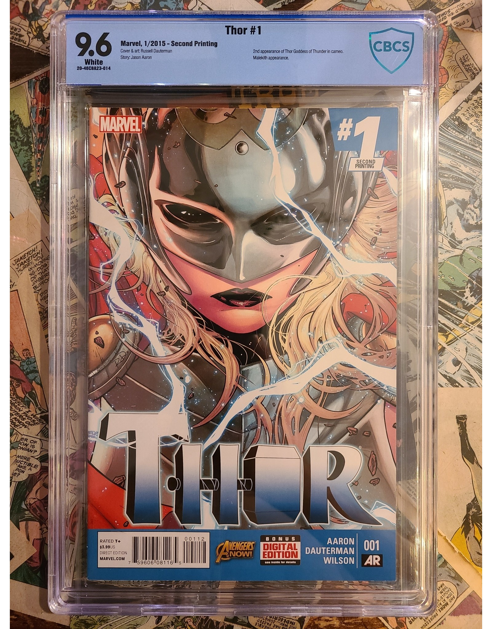 Marvel Comics THOR #1 2ND PTG 2014  1ST JANE FOSTER AS THOR 9.6