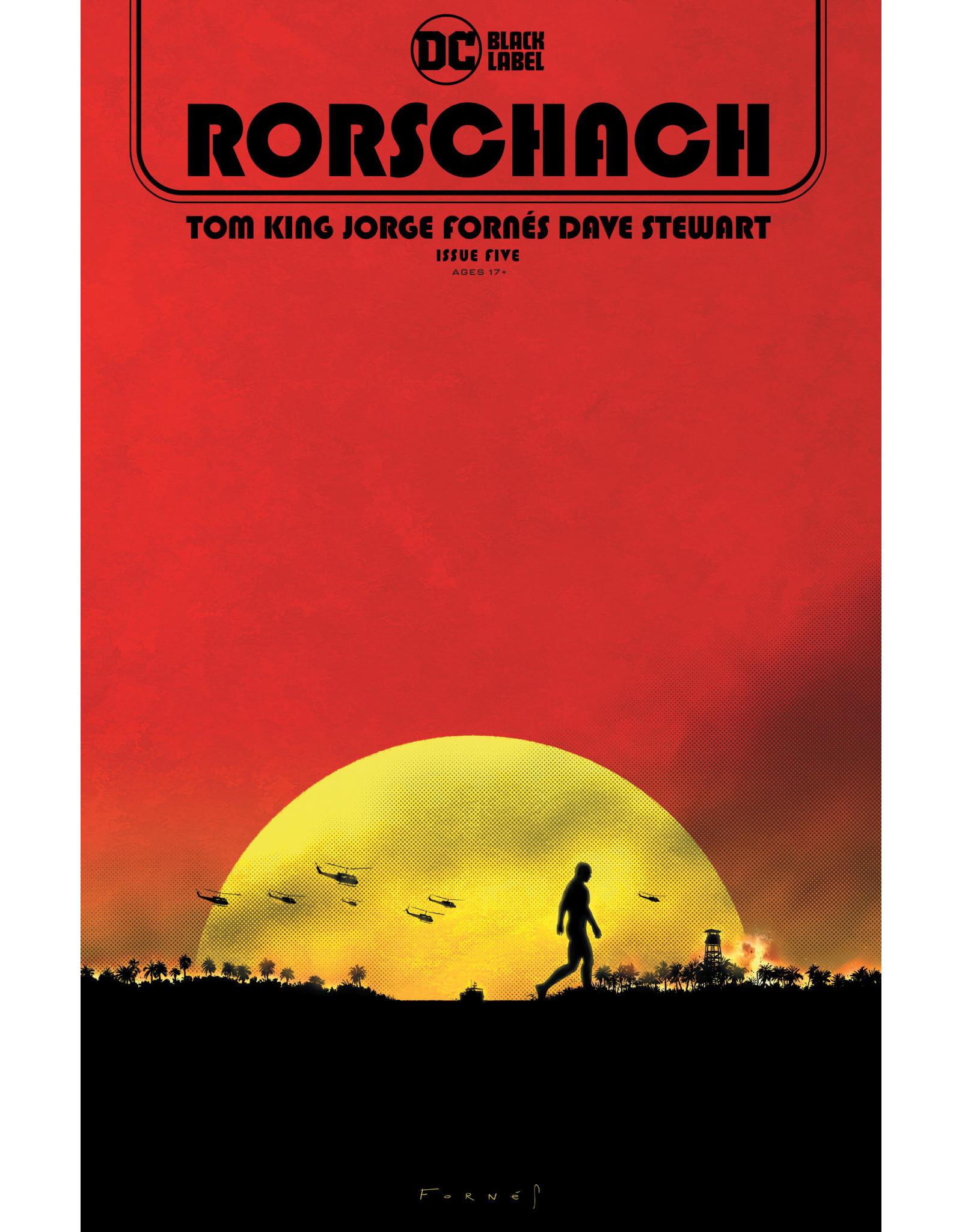 DC Comics RORSCHACH #5 (OF 12) CVR A JORGE FORNES