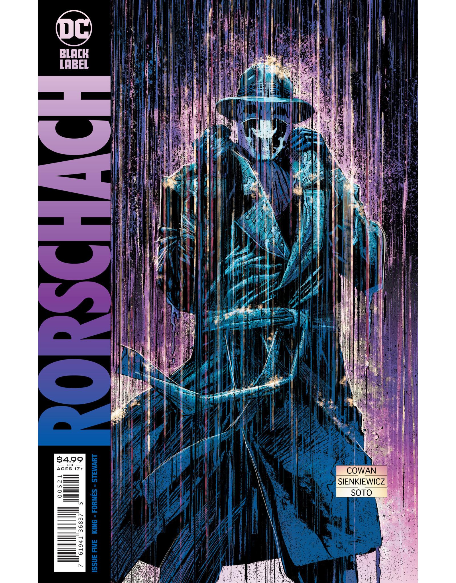 DC Comics RORSCHACH #5 (OF 12) CVR B DENYS COWAN & BILL SIENKIEWICZ VAR