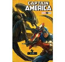 CAPTAIN AMERICA #27 SHAVRIN MARVEL VS ALIEN VAR