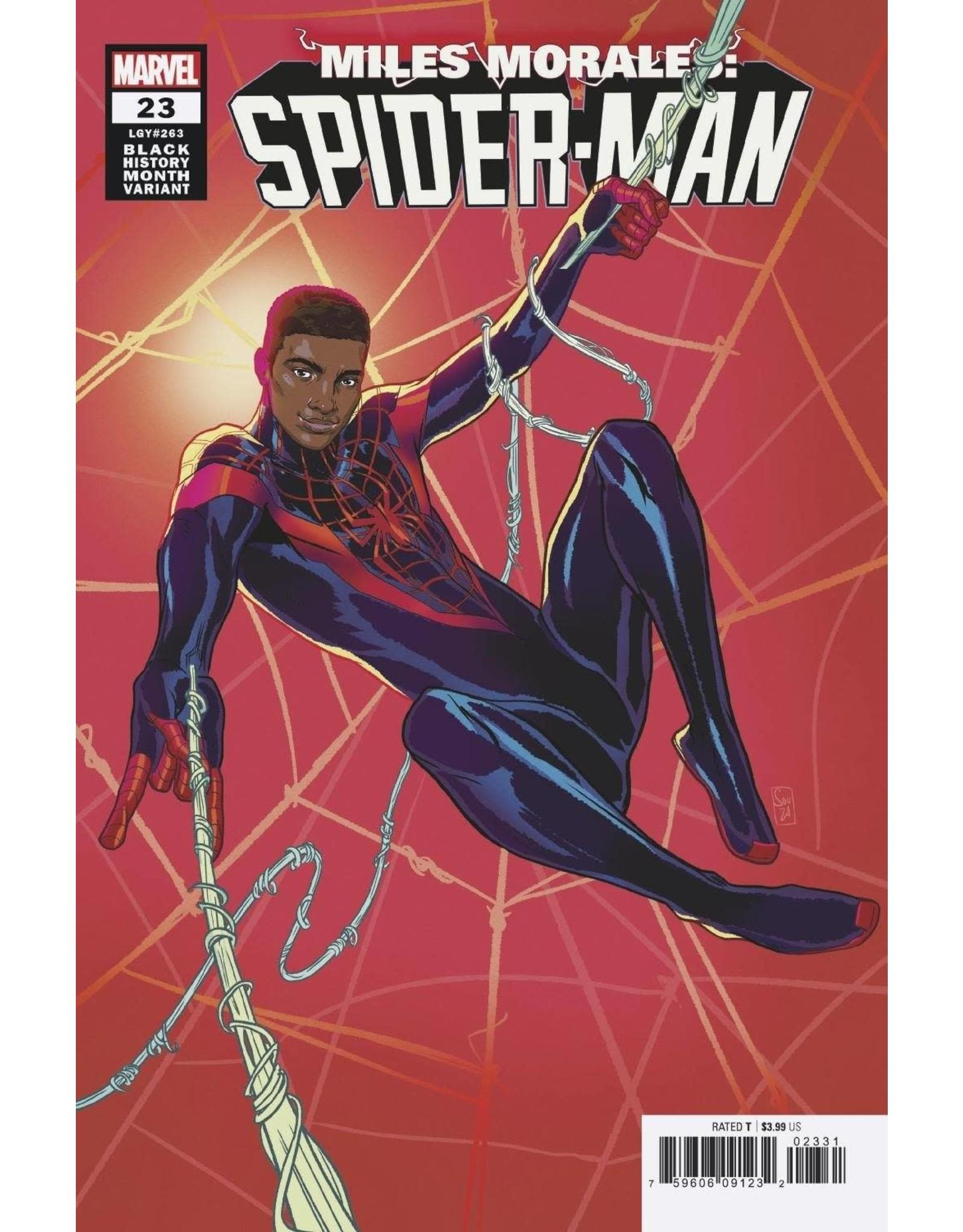 Marvel Comics MILES MORALES SPIDER-MAN #23 SOUZA BLACK HISTORY VAR KIB