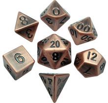 16mm Antique Copper Metal Dice Set
