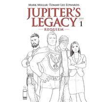 JUPITERS LEGACY REQUIEM #1 (OF 12) CVR C QUITELY B&W