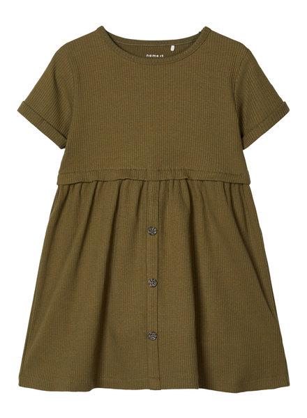 NAME IT - GIRLS NMFRIBSA SS DRESS CAMP
