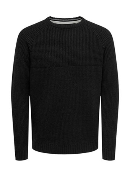 ONLY & SONS ONSKELVIN 5 STRUC CREW NECK KNIT