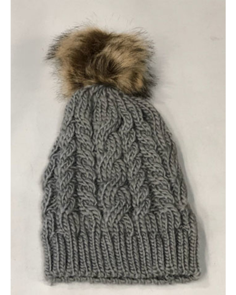 THE BRANDE GROUP THE BRANDE GROUP TUQUES POMPON 1- aw20 GREY