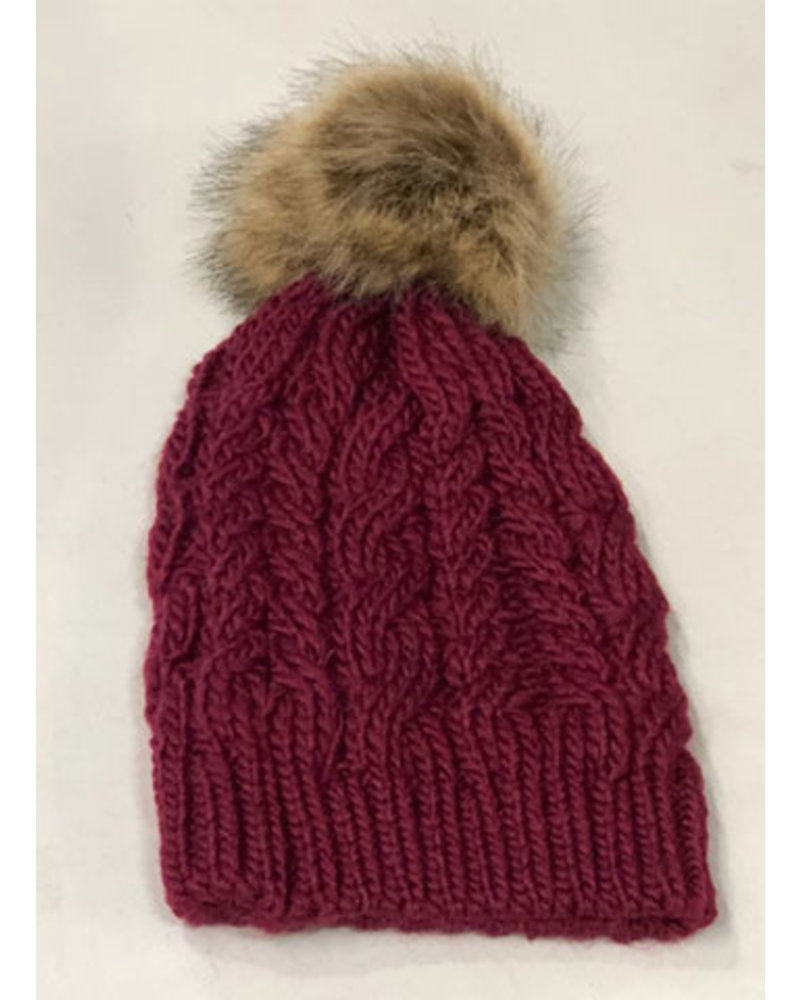 THE BRANDE GROUP THE BRANDE GROUP TUQUES POMPON 1- aw20 BURGUNDY