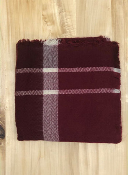 THE BRANDE GROUP THE BRANDE GROUP -scarves square long 1 - burgundy check