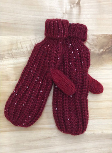 THE BRANDE GROUP THE BRANDE GROUP - GLOVES-mitaines 1 - BURGUNDY