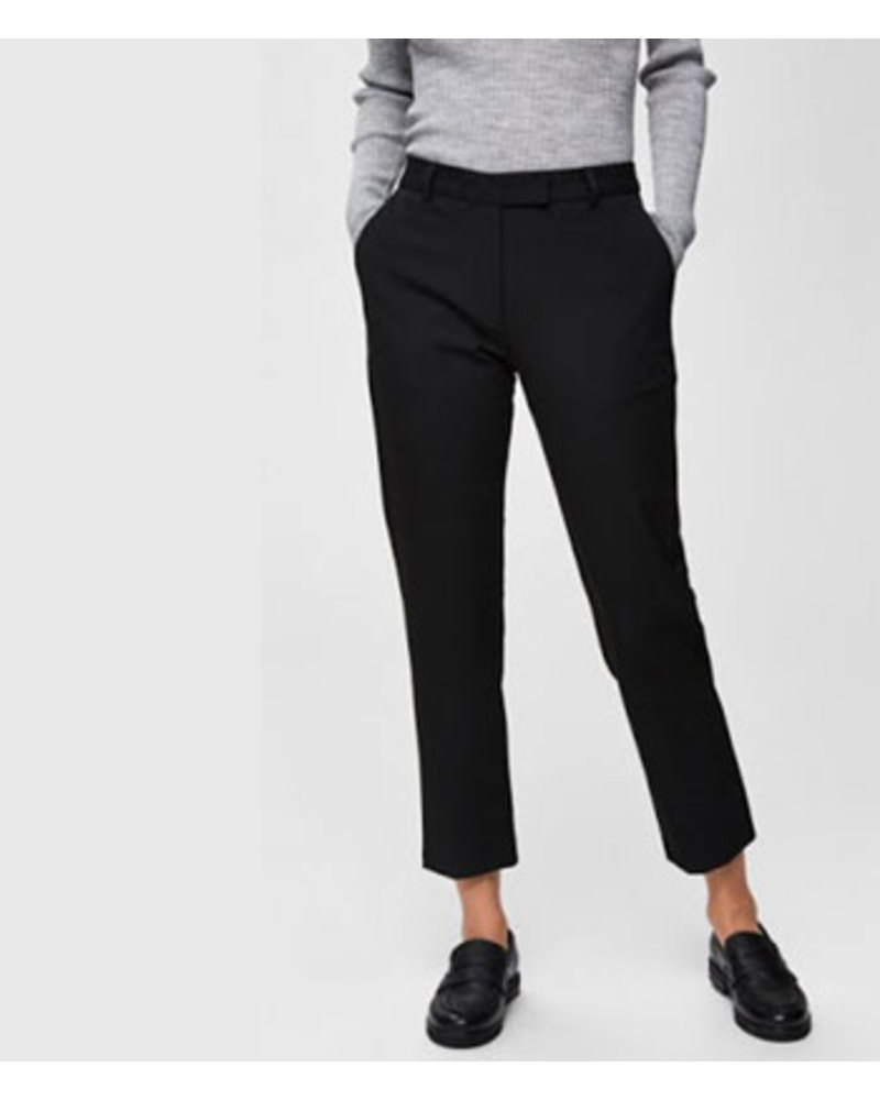 SELECTED FEMMES SLFMUSE FIE CROPPED MW PANT BL
